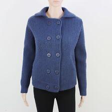 Jack Wills Womens Size 12 Blue Heavyweight Knit Cardigan Jacket