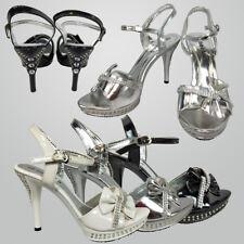 Women Shiny Diamante Wedding Pointed Toe High Heel Stiletto Shoe AU Sz 6-9.5