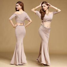 C835 Costume Danza Ventre con 2 Parti Tomaie Top + Gonna di esercizio