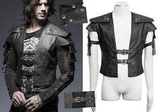 Veste gilet harnais gothique punk steampunk armure cuir warrior Punkrave homme N