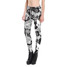 Adult Flower Cat Trousers Skinny printed Leggings Women girl Fitness Pants NEW