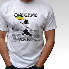 Bob Marley one game - white t shirt football top rasta reggae peace music design