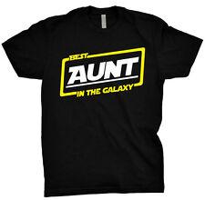 Best Aunt In The Galaxy Shirt Gift Tee T Shirt Black T-Shirt