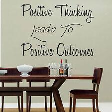 Mentalità positiva conduce a risultati positivi Muro ARTE Adesivo Salotto Cucina