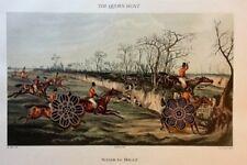 "Vtg English Sporting Print Antique Repro Equestrian ** 12"" x 16"" ** SEE VARIETY"