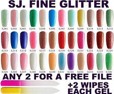 BLUESKY SJ FINE GLITTER COLLECTION CRYSTAL 1-36 NAIL GEL POLISH UV LED SOAK OFF