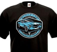 T-Shirt MUSCLE CAR  AMERICAN PRIDE  Ford Mustang V8 Pony Car Custom Drag Hot Rod