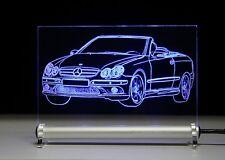 LED-Leuchtschild graviert ist CLK w209 Cabrio  als AutoGravur