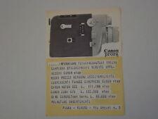 advertising Pubblicità 1964 CANON ZOOM
