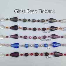 Glass & Acrylic Modern Bead Rope Curtain Tie Backs SALE Beaded Tieback Tieband