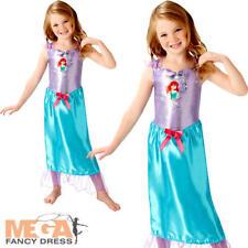 Ariel Girls Fancy Dress Disney Princess Fairytale Book Childrens Childs Costume