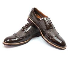 New Mens Patent Dark Brown Ferro Aldo Shoes Original Perforation NEW 139001-617