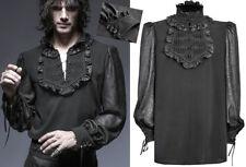 Chemise haut blouse gothique dandy baroque jabot motifs jacquard gravé Punkrave