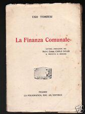 LA FINANZA COMUNALE di Ugo Tombesi
