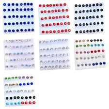 40 Pcs/set Women Girl's Crystal Stud Earrings Christmas Present (size:5mm)@V8J5