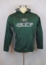 Men's NFL New York Jets Green Sweatshirt Hoodie Pullover New M L XL