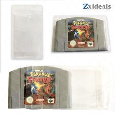 Box Protector N64 Nintendo 64 Cart Cartridge Game Custom Made Clear Plastic Case