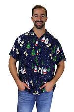 Camisa de Navidad, Camisa de Hawai, Christmas Buddys, Azul, XS - 6XL