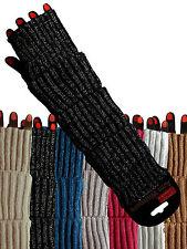 Glitzer - Armstulpen Pulswärmer Strickstulpen Handschuhe ohne Finger Farbauswahl