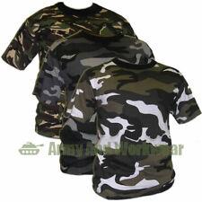 CAMOUFLAGE MILITARE OPS ARMY CAMO PRINT combattere t-shirt top pantaloni da uomo manica corta