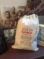 Personalised Bridesmaid Gift Bag -  Various Sizes - Grace Design
