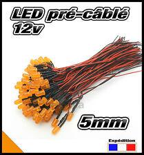 C443DO# LED 5mm 12v pré-câblé orange diffusant 5 à 100pcs - pre wired LED orange