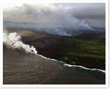 Kilauea Volcano Pāhoehoe Lava Advances Leilani Avenue 2018 Silver Halide Photo