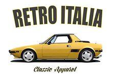 FIAT X1-9 t-shirt. RETRO ITALIA. CLASSIC CAR. BERTONE. X1 9. ABARTH.