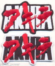 Akira Embroidered Text Iron on Patch, Manga Series Badge,