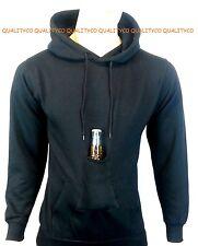 New Men's Beer Cell Phone Bottle Pocket Pouch Black Hoodie S-4XL Sweatshirt
