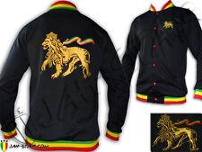 Rasta Felpa Giacca Reggae Conquering Lion Of Judah ricamato
