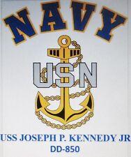 USS JOSEPH P. KENNEDY JR  DD-850* DESTROYER* U.S NAVY W/ ANCHOR* SHIRT