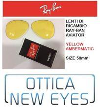 LENTI di Ricambio RAYBAN AVIATOR 3025 Replacement Lenses YELLOW AMBERMATIC 4A