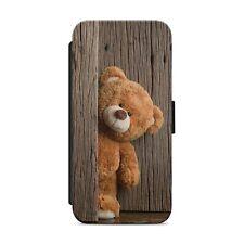 CUTE BEAR LITTLE BEAR WALLET FLIP PHONE CASE COVER FOR IPHONE SAMSUNG HUAWEI s59