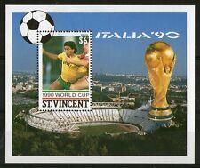 St VINCENT 1990 ITALY FOOTBALL WORLD CUP $6 MINIATURE SHEET MNH (a)