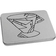 'Art Deco Cup' Metal Hinged Tin / Storage Box (vTT0018178)
