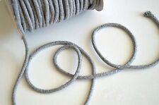 Corde coton tressée 6 mm vendu par 2 m, nombreux coloris