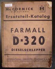 MC Cormick Farmall D320 Schlepper Ersatzteilkatalog