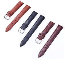 Durable 12-24mm Crocodile Genuine Leather Watch Band Wrist Strap Women Mens Band