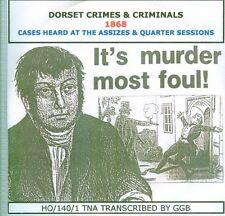 Dorset crimes & criminels 1868