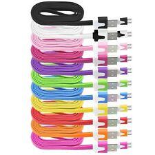 1 m 2 M 3 m Plat Nouilles Micro USB Chargeur Câble pour GALAXY S5 S3 S4 Mini