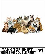 Persian Siamese Himalayan Tabby Shorthair Longhair Cat Kitten Breed Tank Top 724