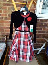 Stunning Girl's Jona Michelle Pretty Red & Black Plaid Dress