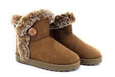 Ladies Dr Keller Chestnut Brown Suede Winter Warm Ankle Boots