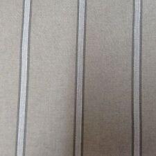 "Linen Double Stripe Grey 140cm/54"" Curtain/Craft Fabric"