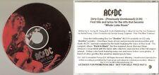 "AC/DC ""Dirty Eyes"" Rare US Promo CD"