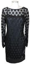 Joseph Ribkoff Kleid 36 schwarz 2lagig Polyester dress Cocktail neu mit Etikett