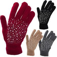 43cc07e0d1244 Gants femme petits gants tricot coloré hiver basic couleur unie strass  1672407