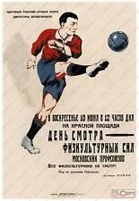 Sovietica sport calcio vintage advertising poster riproduzione