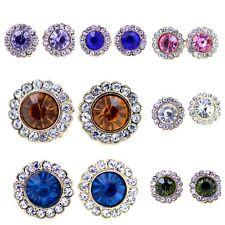 Classic elegant diamond stud style crystal earrings multiple choices
